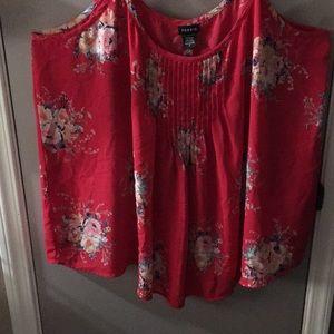 Adjustable strap tank blouse